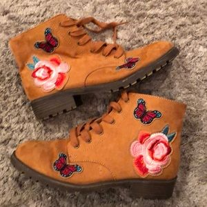 Boots with Patches